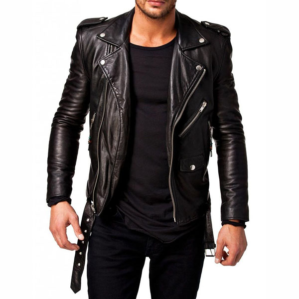 Men Slim Biker Jacket