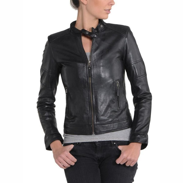 Women Bomber Biker Jacket